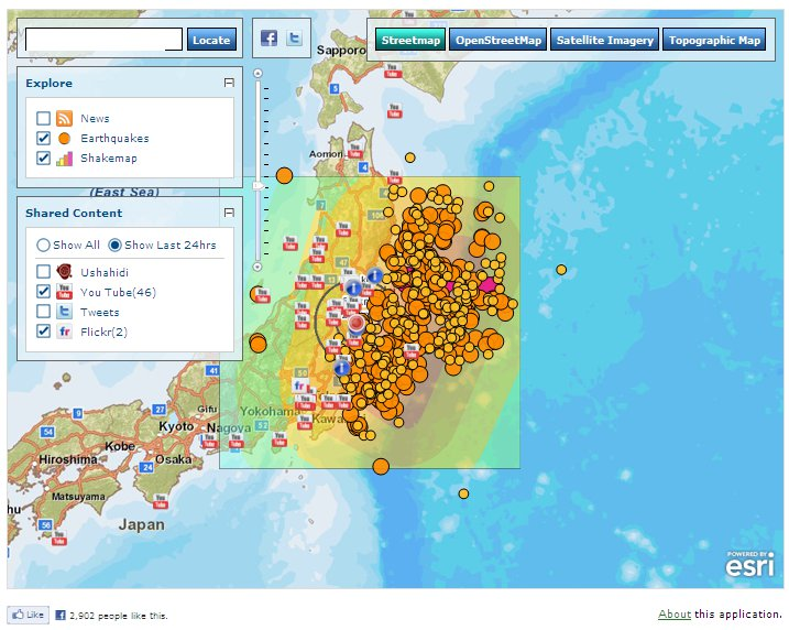 Earthquake Incident Map Esri Assists Japan Earthquake and Tsunami Response | Esri Australia