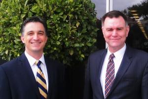 Esri Australia's Simon Hill and Esri Inc's John Day