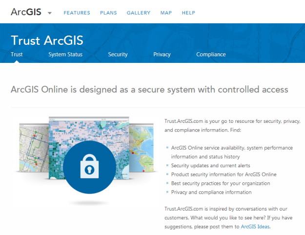 New Trust.ArcGIS site