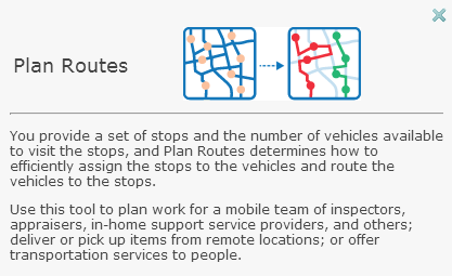 Plan Routes tool
